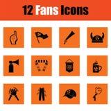 Ensemble d'icônes de fans de foot illustration stock