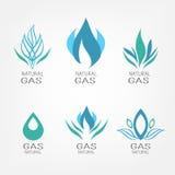 Ensemble d'icônes de gaz Photos stock