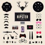 Ensemble d'icônes de hippie de conception dénommées par vintage Fond d'illustration de vecteur illustration de vecteur