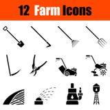 Ensemble d'icônes de jardinage illustration libre de droits