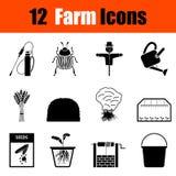 Ensemble d'icônes de jardinage illustration stock