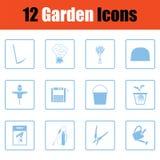Ensemble d'icônes de jardinage illustration de vecteur