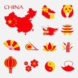 Ensemble d'icônes de la Chine Infographic Photographie stock libre de droits