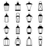 Ensemble d'icônes de lanterne, illustration de vecteur Photographie stock libre de droits