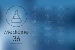 Ensemble d'icônes de médecine Image libre de droits