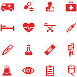 Ensemble d'icônes de médecine Photographie stock
