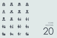 Ensemble d'icônes de médecins illustration libre de droits