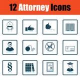 Ensemble d'icônes de mandataire illustration libre de droits