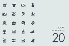 Ensemble d'icônes de Netherland Photographie stock libre de droits
