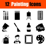 Ensemble d'icônes de peinture illustration libre de droits