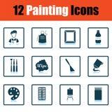 Ensemble d'icônes de peinture illustration stock