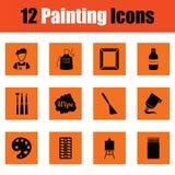 Ensemble d'icônes de peinture illustration de vecteur