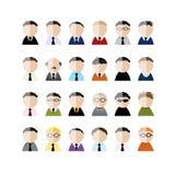 Ensemble d'icônes de peuples d'hommes d'affaires, bande dessinée pour illustration de vecteur