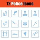 Ensemble d'icônes de police illustration libre de droits