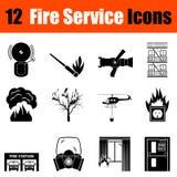 Ensemble d'icônes de pompiers illustration stock