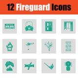 Ensemble d'icônes de pompiers illustration libre de droits