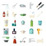 Ensemble d'icônes de salle de bains Photo stock