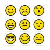 Ensemble d'icônes de sourire illustration de vecteur