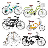 Ensemble d'icônes de symbole de bicyclette. Image stock