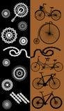 Ensemble d'icônes de vélo illustration stock