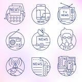 Ensemble d'icônes de vecteur dans le style linéaire moderne illustration stock