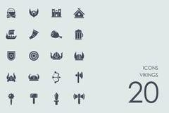 Ensemble d'icônes de Vikings Photographie stock