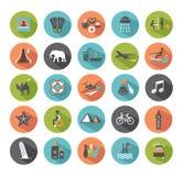 Ensemble d'icônes de voyage. illustration libre de droits