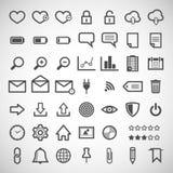 Ensemble d'icônes de Web Photographie stock libre de droits
