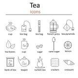 Ensemble d'icônes de Web pour le thé Photos libres de droits