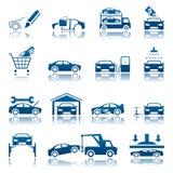 Ensemble des véhicules à moteur d'icône Photographie stock