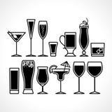 Ensemble d'icônes en verre plat Photographie stock libre de droits
