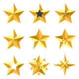 Étoiles d'or illustration stock