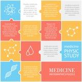 Ensemble d'icônes médicales plates Image stock