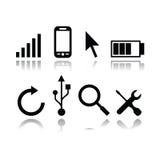 Ensemble d'icônes modernes d'instrument Image libre de droits