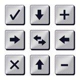 Ensemble d'icônes modernes de boutons Images stock