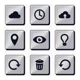 Ensemble d'icônes modernes de boutons Image libre de droits