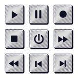 Ensemble d'icônes modernes de boutons Photos libres de droits