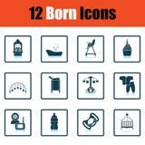 Ensemble d'icônes nées illustration libre de droits