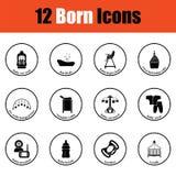 Ensemble d'icônes nées illustration de vecteur