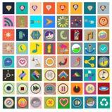 Ensemble d'icônes plates Photographie stock