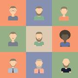 Ensemble d'icônes plates d'hommes Illustration de Vecteur