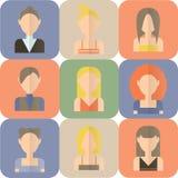 Ensemble d'icônes plates de femmes Illustration Libre de Droits