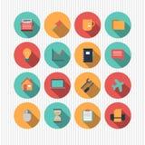 Ensemble d'icônes plates de web design Image libre de droits