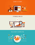 Ensemble d'icônes plates pour le web design Image libre de droits