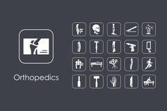 Ensemble d'icônes simples d'orthopédie Image libre de droits