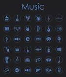 Ensemble d'icônes simples de musique illustration de vecteur