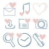 Ensemble d'icônes sociales de media illustration de vecteur