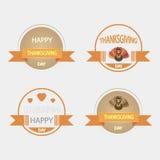 Ensemble d'icônes sur un thème de thanksgiving de vintage Photos libres de droits