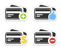 Icône une carte de crédit Photographie stock