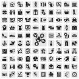 Ensemble d'icônes. vêtements Image libre de droits